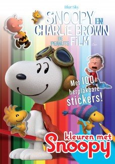 Snoopy kleur- en stickerboek